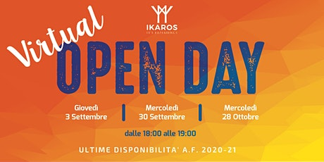 Virtual OPEN DAY - FONDAZIONE IKAROS BUCCINASCO - 30 Settembre 2020 biglietti