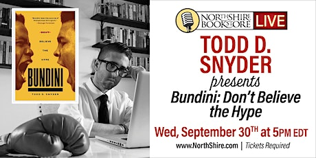 "Northshire Live: Todd Snyder ""Bundini: Don't Believe the Hype"" tickets"