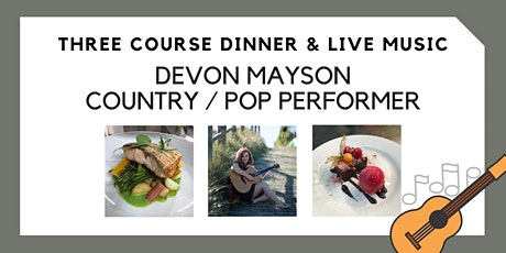 Three Course Dinner & Live Music tickets