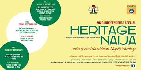 HERITAGE NAIJA 1.0 (A 3-DAY WEBINAR ON THE CULTURE AND HERITAGE OF NIGERIA) tickets