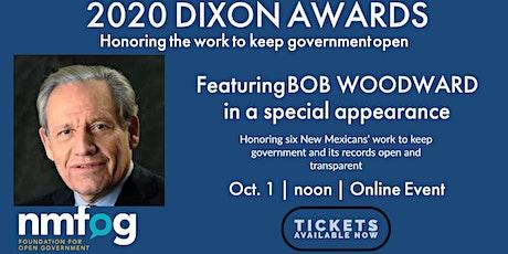 2020 William S. Dixon Awards featuring Bob Woodward tickets