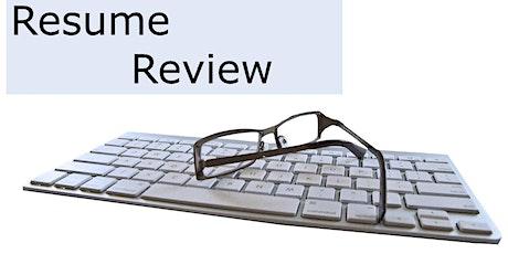 Resume Review via Microsoft Teams tickets