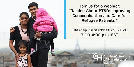 Talking About PTSD: Improving Communication and Care for Refugee Patients tickets