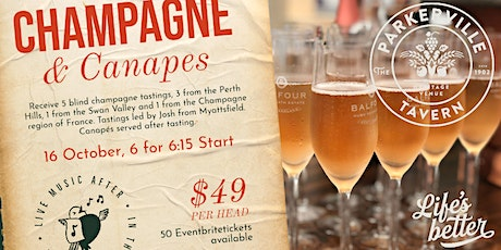 Champagne and Canapes tickets