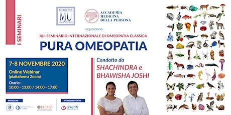 WEBINAR -  Shachindra e Bhawisha JOSHI  - PURA OMEOPATIA biglietti