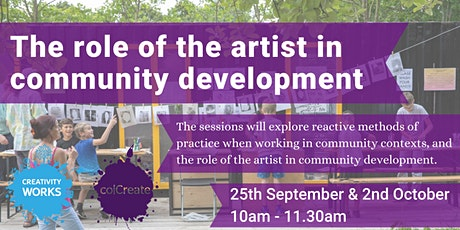 The role of the artist in community development tickets