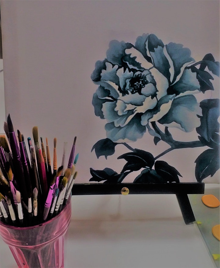 Floral Botanical Painting Workshop - no drawing skills needed image