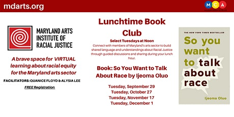 Maryland Arts Institute of Racial Justice Book Club tickets