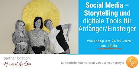 Social Media – Storytelling und digitale Tools für Anfänger/Einsteiger Tickets