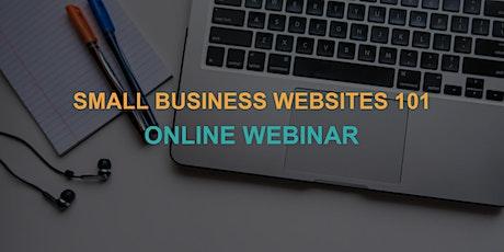 Small Business Websites 101: Online Webinar tickets