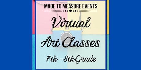 Virtual Art Class - 7th-8th Grade tickets