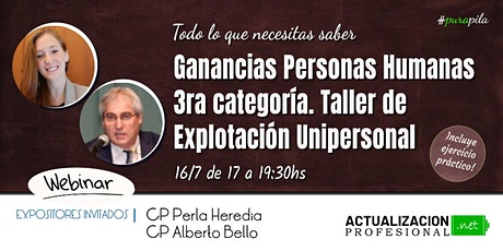 *GRABACION - Ganancias Personas Humanas 3ra cat y Ajuste por Inflación Imp entradas