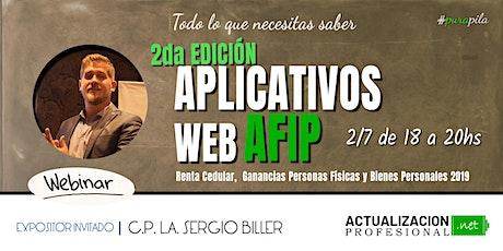 *GRABACION  Aplicativos WEB AFIP Renta Cedular, Ganancias P. Físicas... entradas