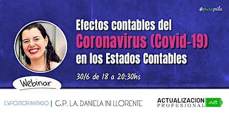 *GRABACION Efectos contables del Covid-19 en los Estados Contables. entradas