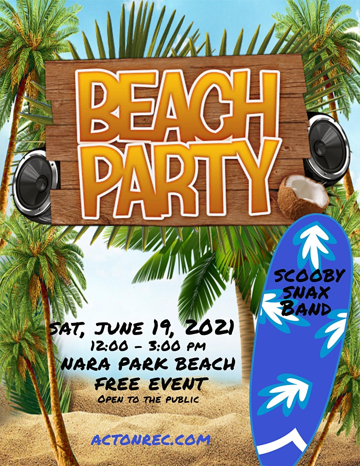 Beach Party featuring the Scooby Snax Band 2021 image