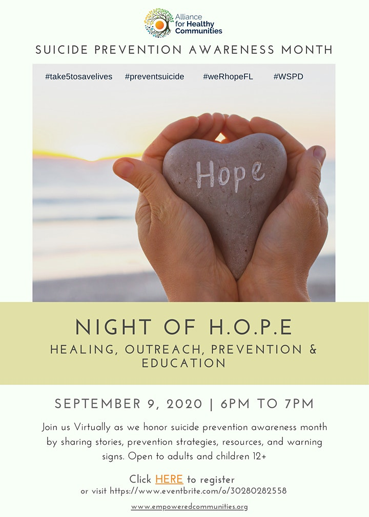 Suicide Prevention Awareness Month: Night of H.O.P.E image