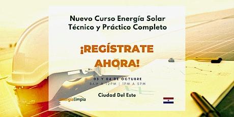 Nuevo Curso Energía Solar | Técnico y Práctico Completo (03 y 04/OCT) ingressos
