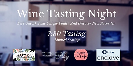 Wine Tasting with ko-ze wine room at The Enclave:  7:30 Sitting tickets