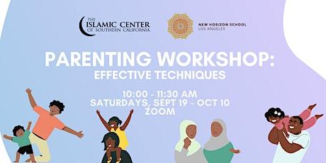 NHSLA & ICSC: Parenting Workshop: Effective Techniques tickets