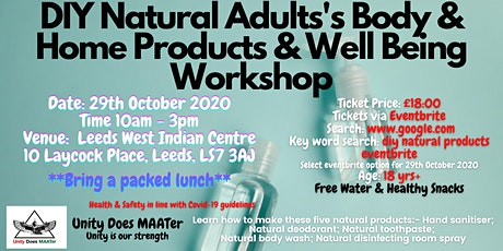DIY Natural Adult's Body Products & Well Being Workshop tickets