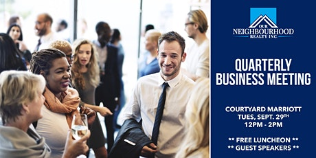 Quarterly Business Meeting tickets