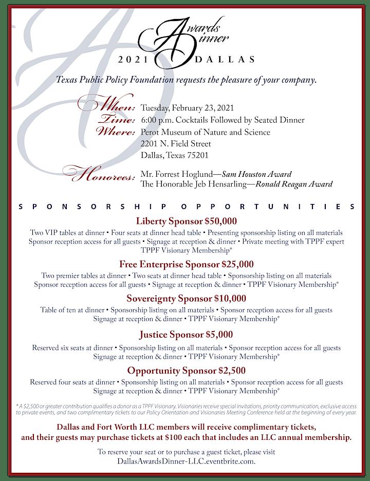 Dallas Awards Dinner—LLC Registration image