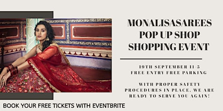 Monalisasarees pop up shop shopping event tickets