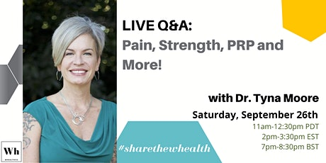 FREE Q&A: Pain, Strength, PRP and more tickets