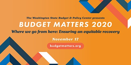 Budget Matters 2020 Where we go from here: Ensuring an equitable recovery tickets