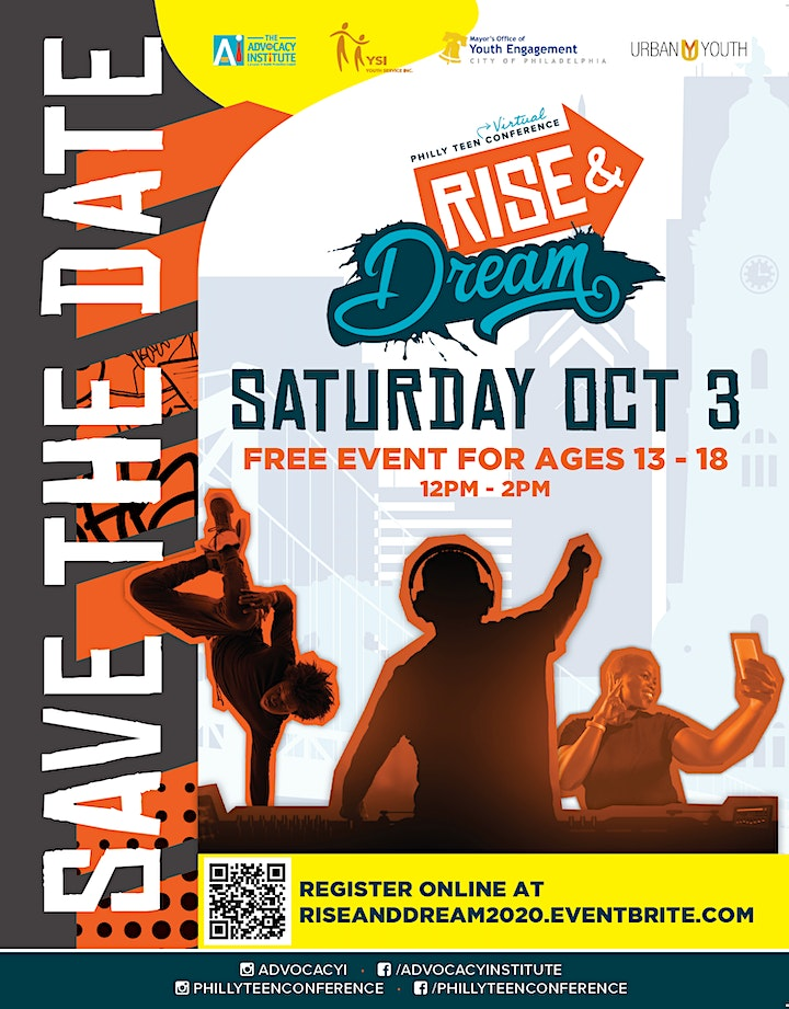Rise and Dream Virtual Philly Teen Conference image