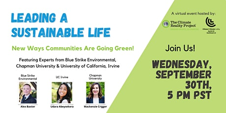 Leading A Sustainable Life! tickets