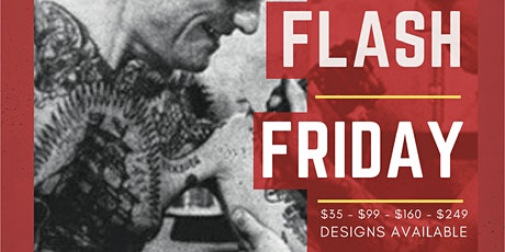 Flash Friday $35 tattoo event September 25-27th tickets