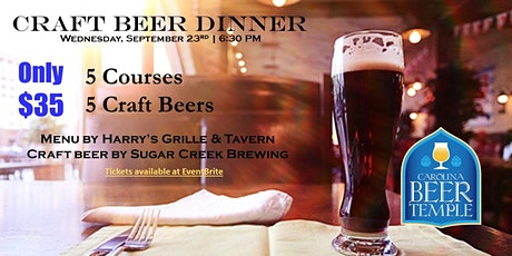 Craft Beer Dinner at Carolina Beer Temple Charlotte tickets