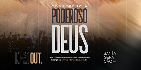 CONFERÊNCIA PODEROSO DEUS - CONTAGEM - 2020 - SEGU billets