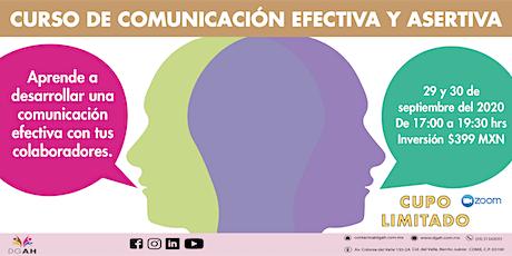 "Curso: ""Comunicación efectiva y asertiva"" boletos"