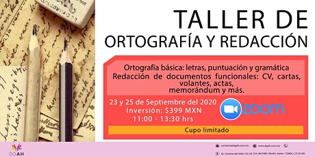 """Taller: """"Ortografía y redacción básica"""" boletos"""