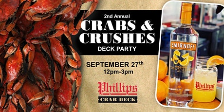 Crabs & Crushes Celebration - 2nd Annual tickets