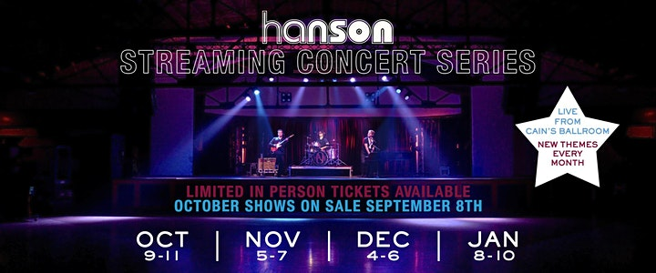 HANSON STREAMING CONCERT SERIES: Live And Electric Revisited image