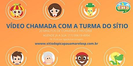 Videochamada com personagens do Sítio do Picapau Amarelo ingressos