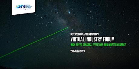 DIN Virtual Industry Forum: High-speed Sensors, Effectors & Directed Energy tickets