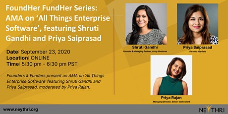 FoundHer FundHer Series: AMA on 'All Things Enterprise Software' tickets