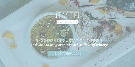 5 Course Degustation Dinner & Wine Tasting - Taste Tauranga 2020 tickets