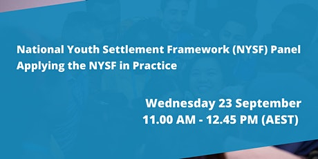 National Youth Settlement Framework Panel tickets