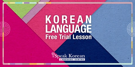 Korean Language In-Class Free Trial Lesson tickets