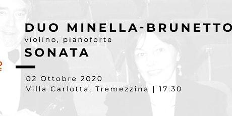 SONATA - Silvano Minella (violino), Flavia Brunetto (pianoforte) biglietti