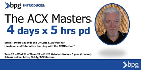 ONLINE ACX Master® (ACXM) - October - 4 DAYS Customer Experience Excellence tickets