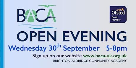 BACA Open Evening - Wednesday September 30 2020 tickets