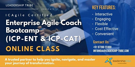 Enterprise Agile Coach Bootcamp (ICP-ENT & ICP-CAT)   Virtual Classes tickets