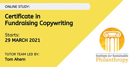 Certificate in Fundraising Copywriting (March 2021) tickets