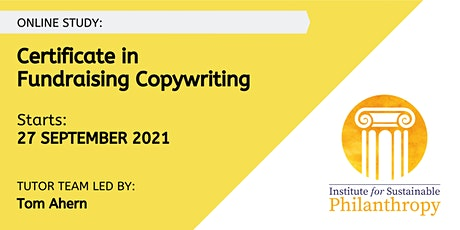 Certificate in Fundraising Copywriting (September 2021) tickets